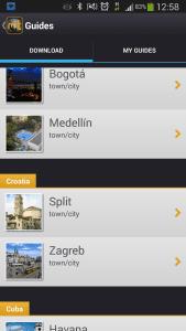 App Mobily Trip para planejar o Roteiro em cada destino