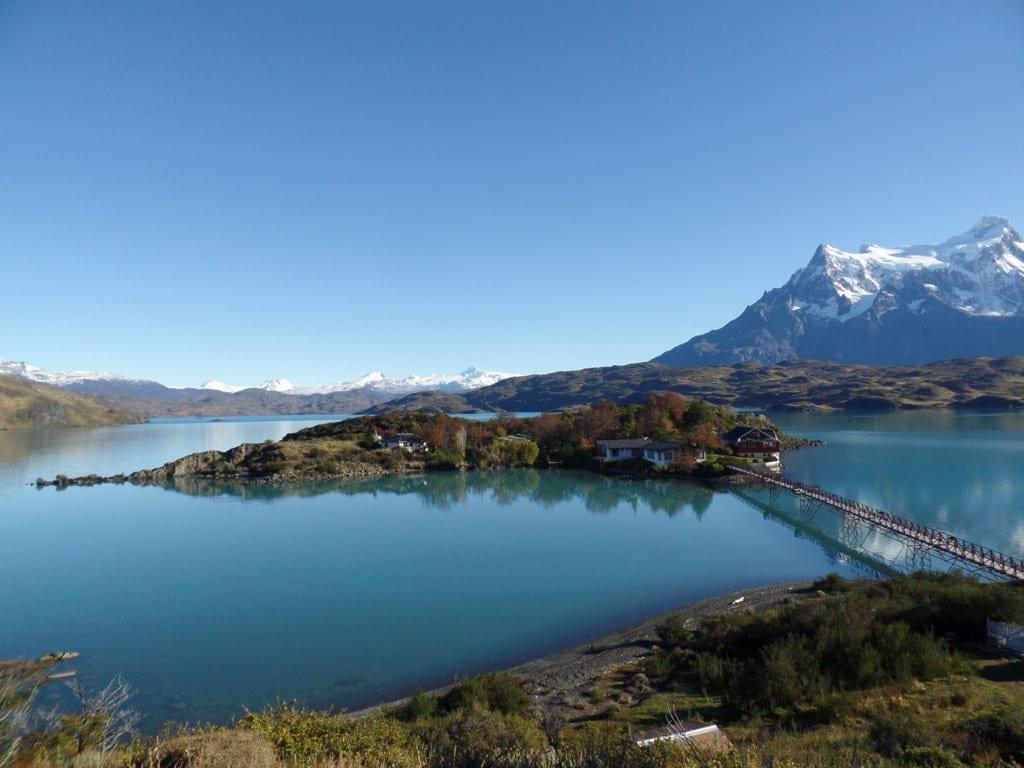 Lago Pehoe uma das vistas mais fantasticas que ja vi, Patagonia, Chile