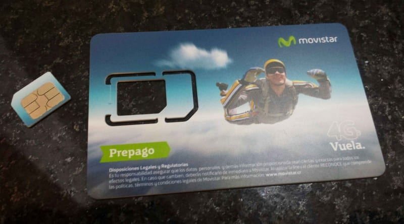 Sim card (chip) Mobistar na Costa Rica