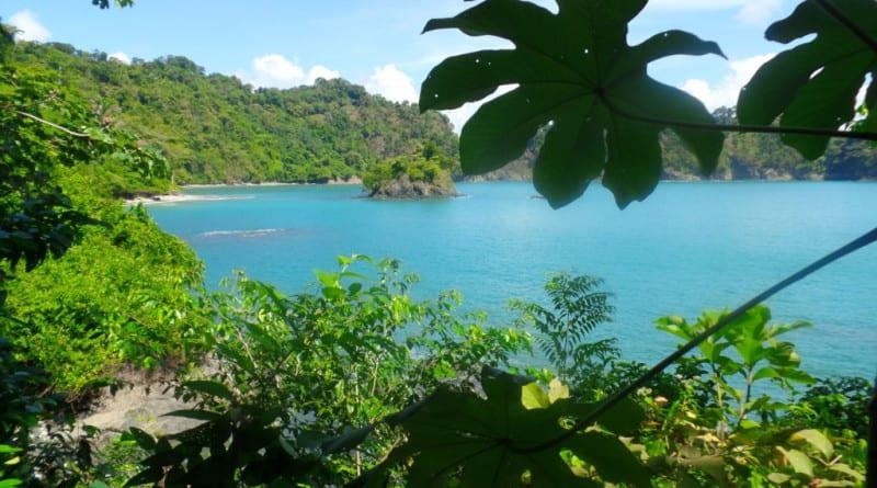 Vista da Playas Gemelas a partir da Punta Catedral - Manuel Antônio, Costa Rica