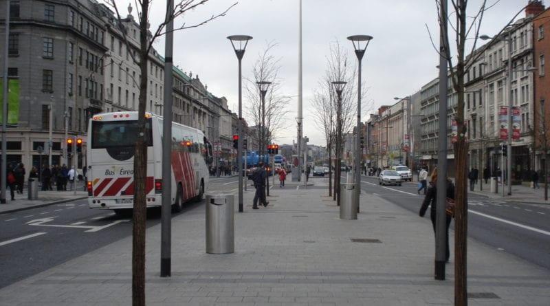 Spire e O Connell street, simbolos do centro de Dublin, Irlanda