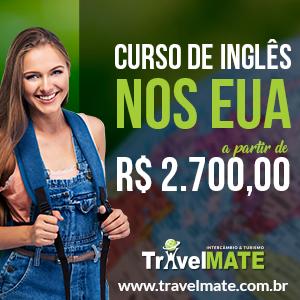 Banner Promoção de intercâmbio nos EUA - 1 mês, Travel Mate